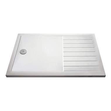 Drench Walk-in Wetroom Shower Tray with Draining Area - 1600x800